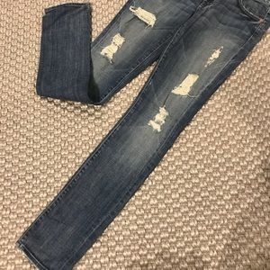 "Seven for all mankind ""Roxanne"" torn jean"